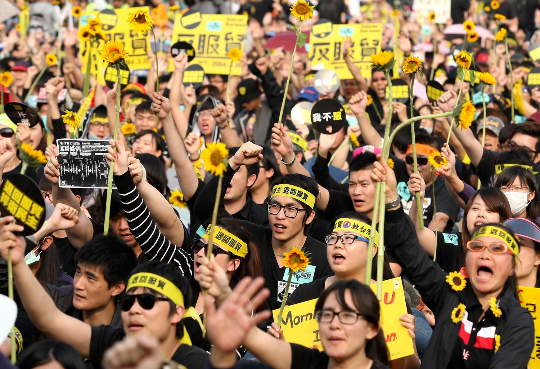 2014年台湾太阳花学运。