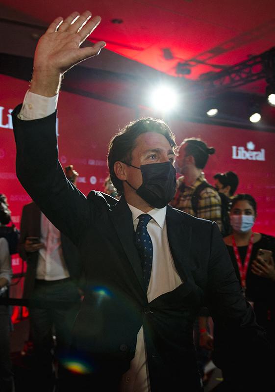 选举胜利的杜鲁多